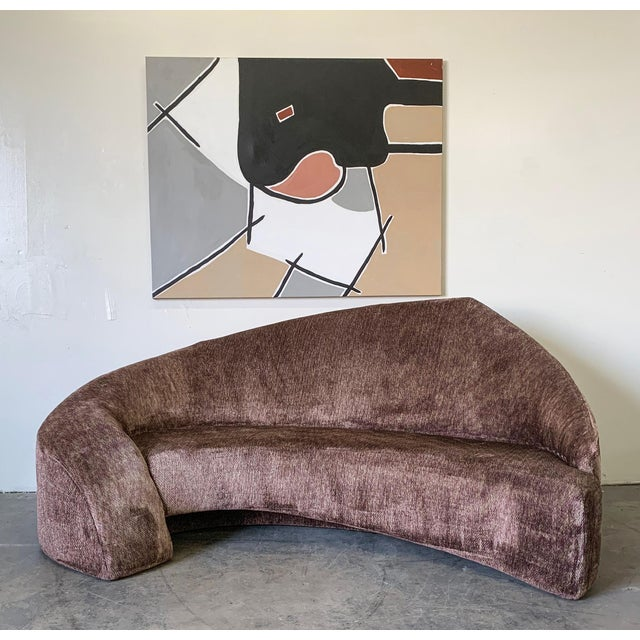 An absolutely stunning post modern sofa designed and created in the mid 1990's. This stunning sofa is evocative of...