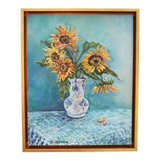 Sunflower Still Life Original Oil Painting For Sale
