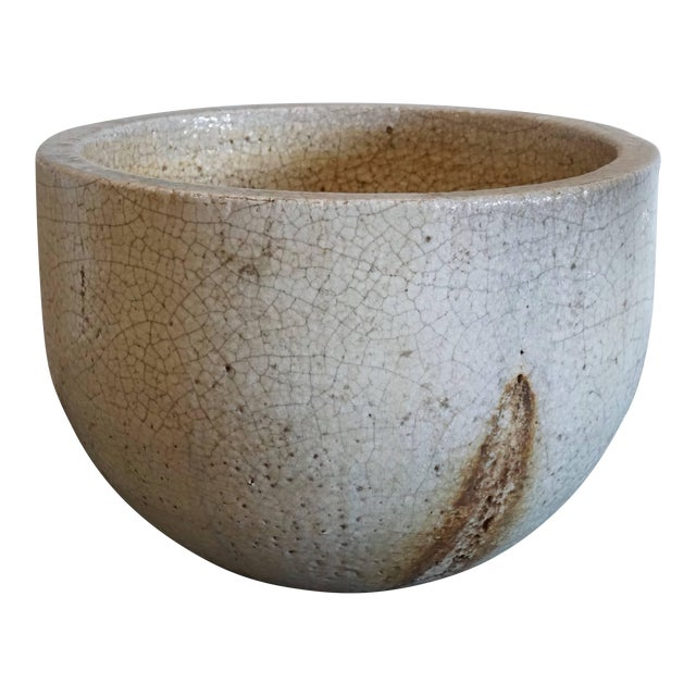 Crackled Glaziers Crucible Planter For Sale