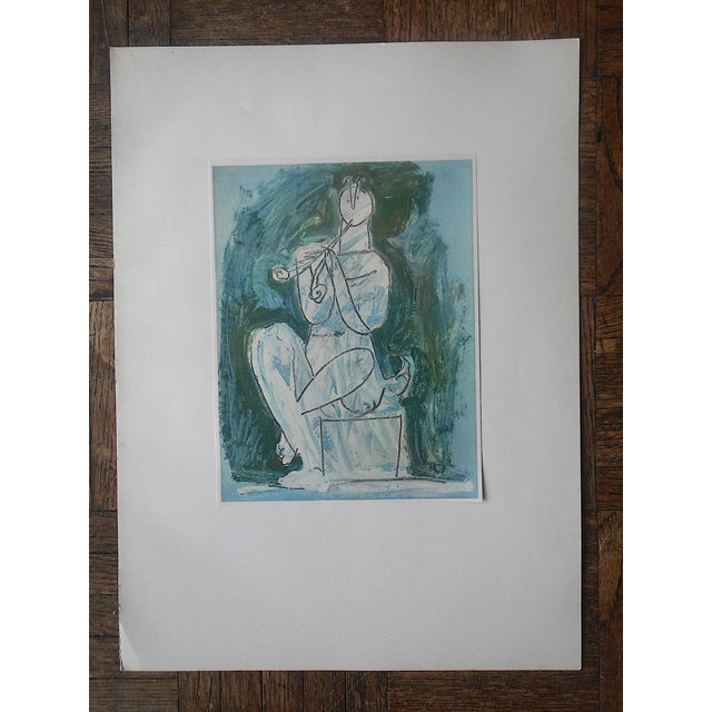 Pablo Picasso Vintage Abstract Mid-Century Picasso Lithograph-From Verve Art Journal For Sale - Image 4 of 5