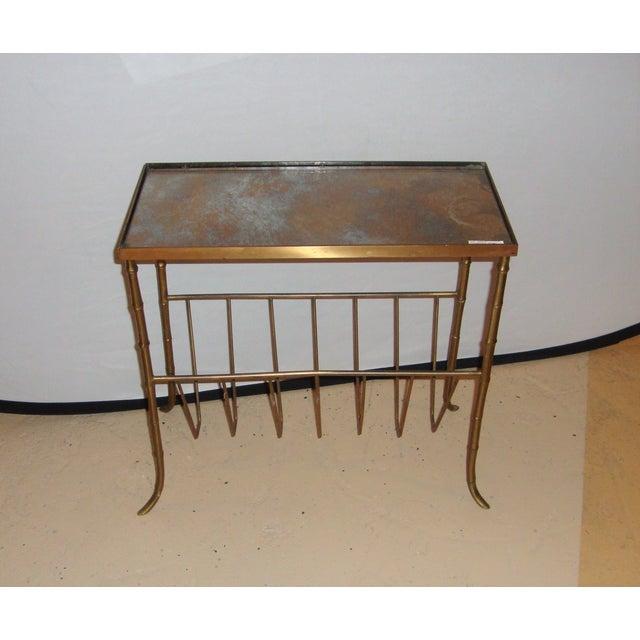 Jansen Style Bronze Bamboo Magazine Table - Image 2 of 9