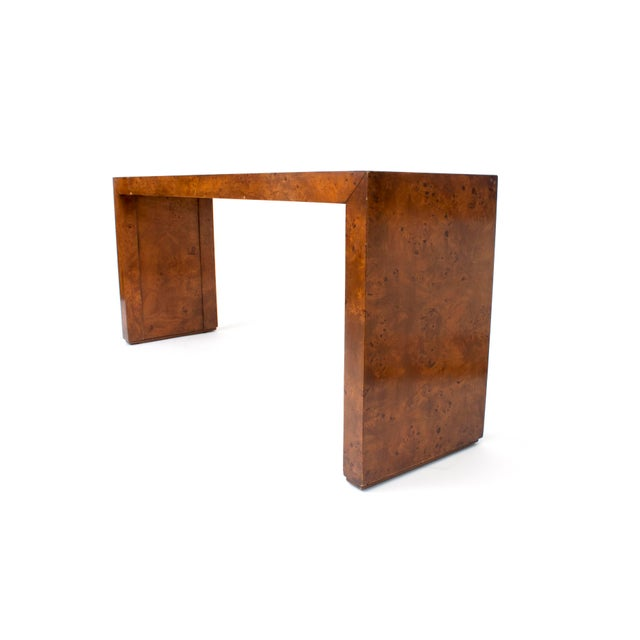 Mid 20th Century Mid-Century Modern Milo Baughman Burl Wood Console Table For Sale - Image 5 of 10