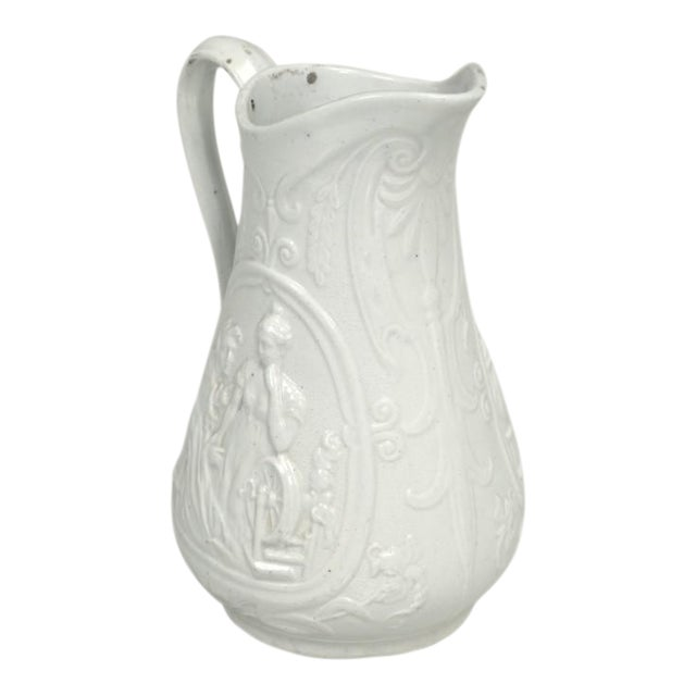 """English Staffordshire Pitcher """"Old Mother Hubbard"""" For Sale"""