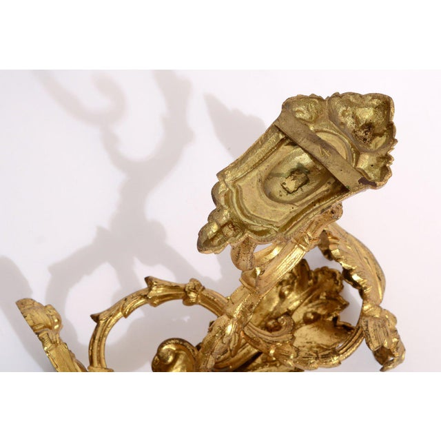 Antique 1880s French Gold Ormolu Curtain Tie / Hold Backs - a Pair For Sale - Image 4 of 6