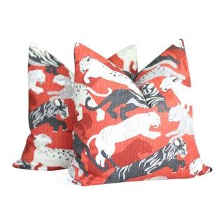 Robert Allen Rajita Tiger Pillows - A Pair