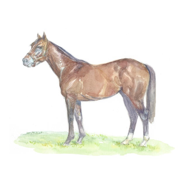 Lexie Armstrong Racehorse Print - Image 1 of 3