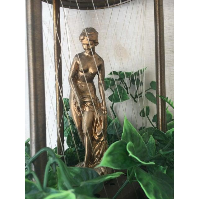 Metal Vintage Golden Woman or Goddess Rain Lamp For Sale - Image 7 of 13