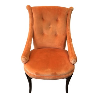 1940's Grosfeld House Orange Lounge Chair For Sale