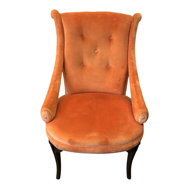 1940's Grosfeld House Orange Lounge Chair For Sale