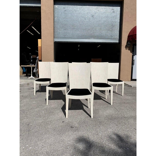 1970s 1970s Enrique Garcel Tessellated Bone Dining Chairs - Set of 6 For Sale - Image 5 of 13