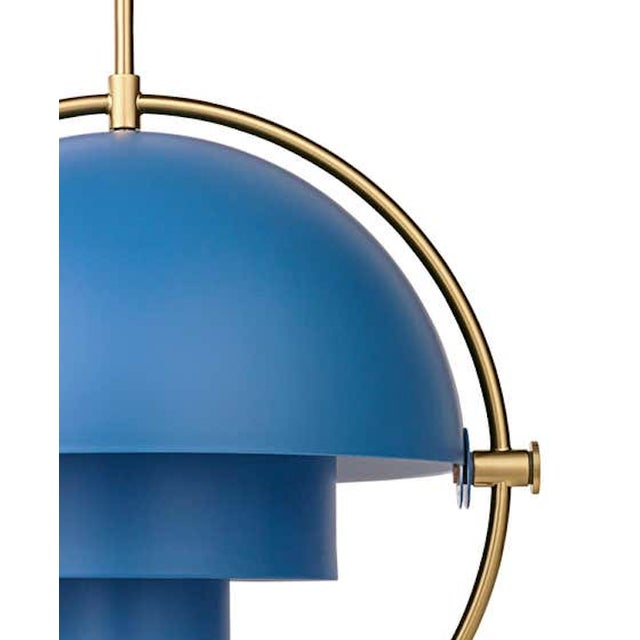Louis Weisdorf 'Multi-Lite' pendant lamp in blue. Designed in 1972 by Weisdorf, this is an authorized re-edition by GUBI...