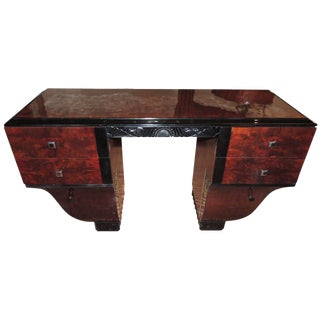 Unique Symmetrical Art Deco Desk French Style For Sale