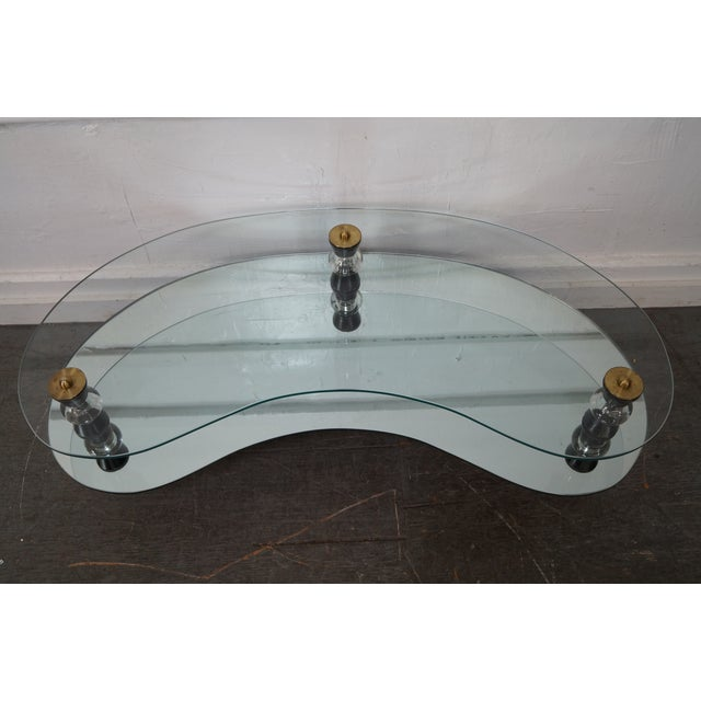 Semon Bache Hollywood Regency Kidney Shaped Mirrored Coffee Table - Image 7 of 10