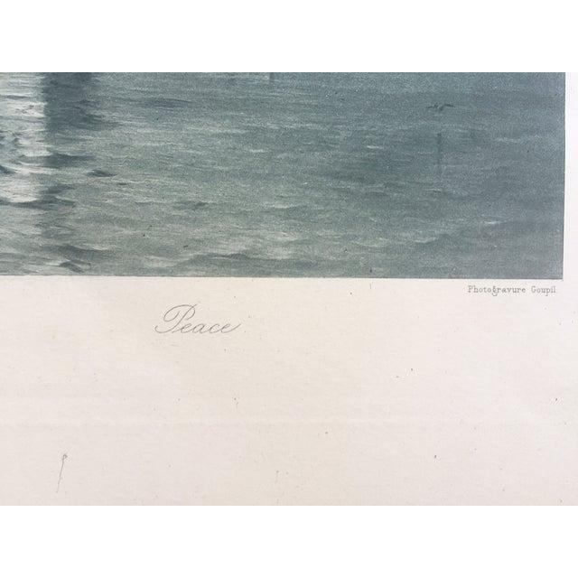 19th-C. Boston Harbor Nautical Photogravure - Image 4 of 6