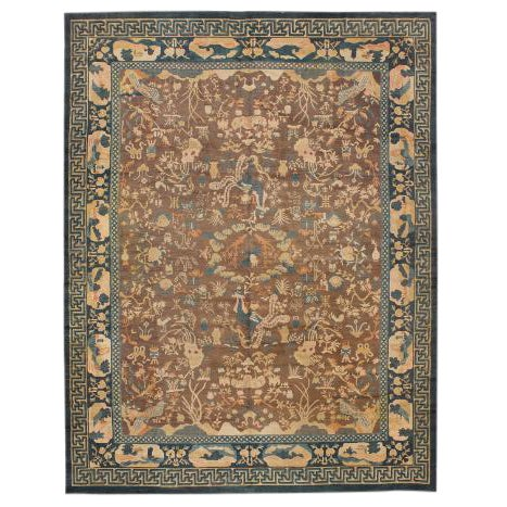 Exceptional Antique Chinese Carpet For Sale