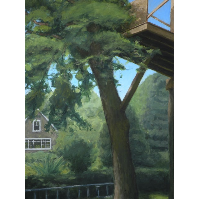 """Paint """"Tree House ~ Looking Up"""" Contemporary Large Painting by Stephen Remick For Sale - Image 7 of 10"""