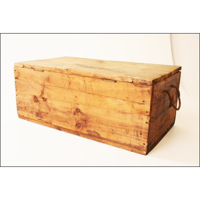Vintage Rustic Underwood Typewriter NYC Wood Storage Crate - Image 9 of 11
