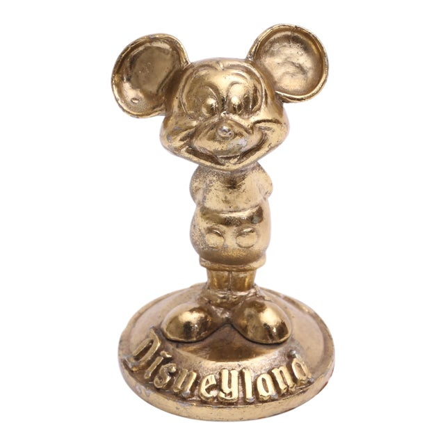 Brass Mickey Mouse Sculpture Disneyland For Sale