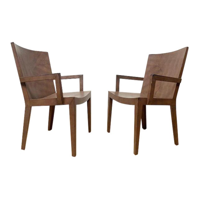 1980s Vintage Karl Springer Jmf Lizard Skin Chairs - a Signed Pair For Sale