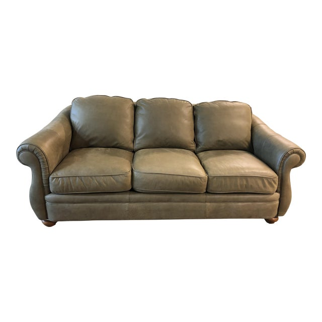 Leather Sofas For Sale In Northern Ireland: Bradington Young Full Hide Nubuck Leather Sofa