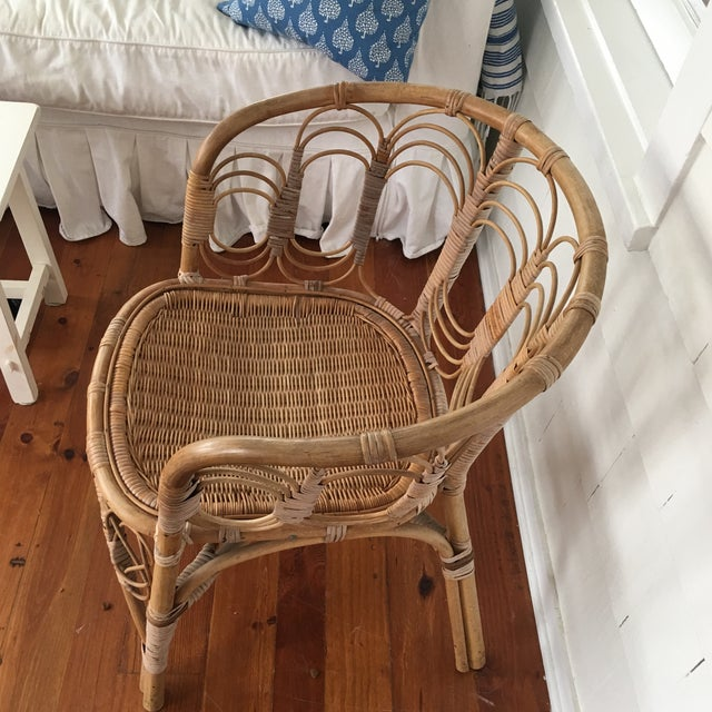 Vintage Rattan Chair For Sale - Image 9 of 10