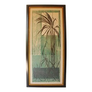 Mid-Century Botanical Woodcut Print For Sale