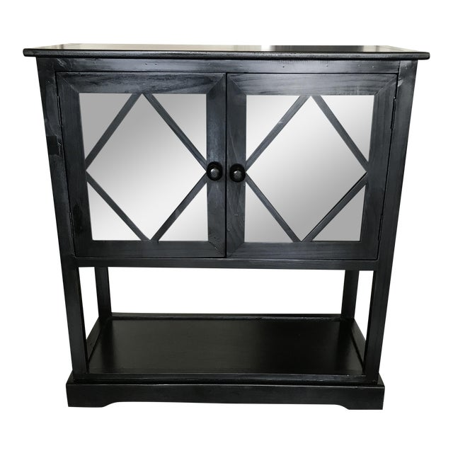Black Contemporary Entryway Cabinet - Image 1 of 6