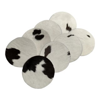 Genuine Brazilian Cowhide Coasters - Set of 8