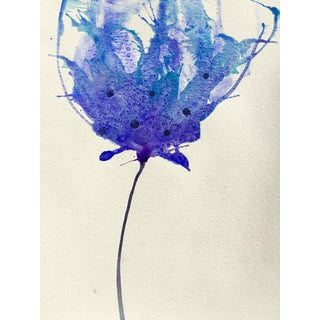 'Blueberry' Watercolor Botanical Painting For Sale