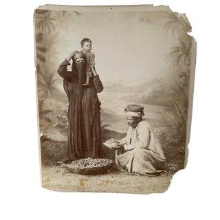 1920's Egyptian Family Albumen Photograph For Sale