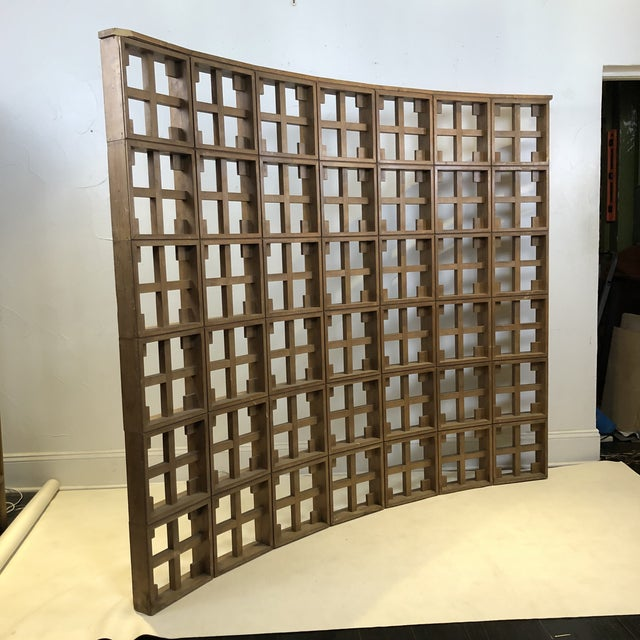 Brown 1960s Mid Century Modern Solid Wood Room Divider / Screen For Sale - Image 8 of 13