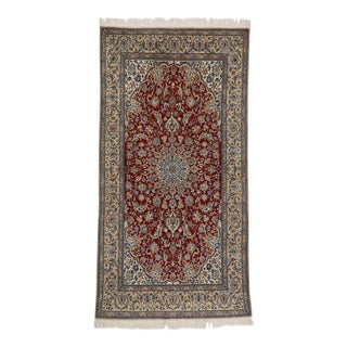 Vintage Persian Nain Rug With Traditional Style - 03'09 X 07'03 For Sale