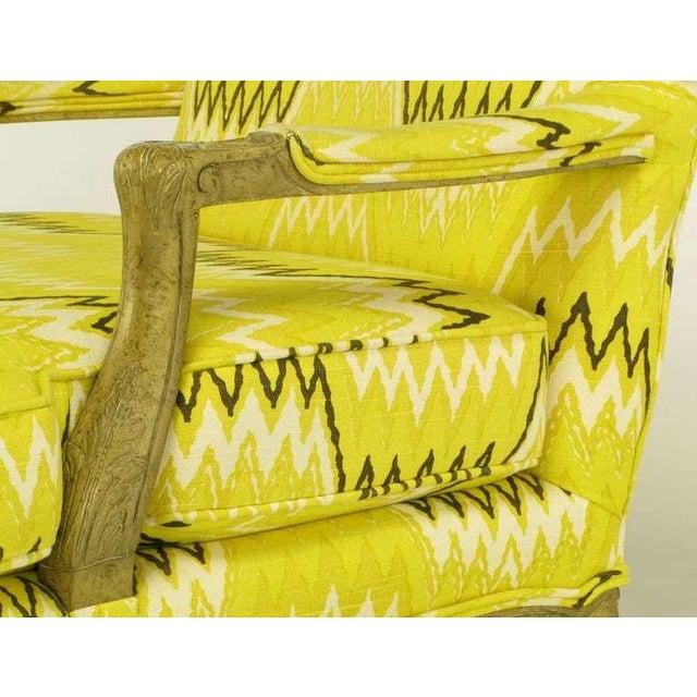Pair Erwin-Lambeth Louis XV Style Arm Chairs & Ottoman - Image 6 of 10