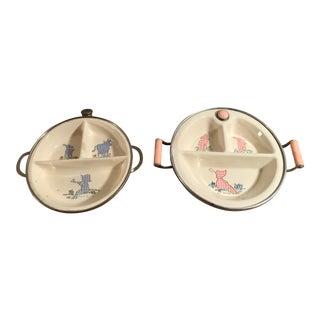Vintage Baby Warming Bowls - a Pair