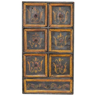 Antique Hand-Painted Indian Chest For Sale
