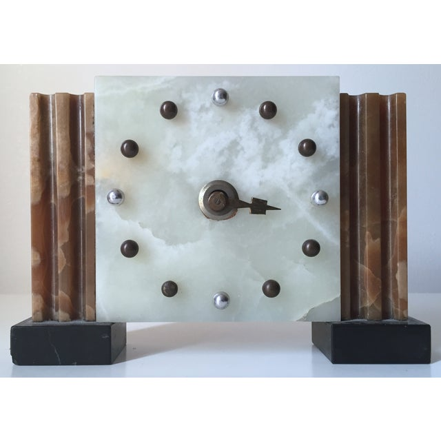 Antique French Art Deco Onyx Clock - Image 6 of 6