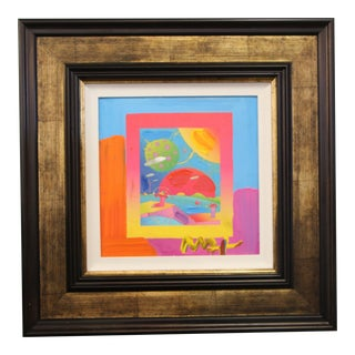 """2008 Peter Max Mixed-Media on Canvas """"Year of 2250 on Blends"""" Ver 1 For Sale"""