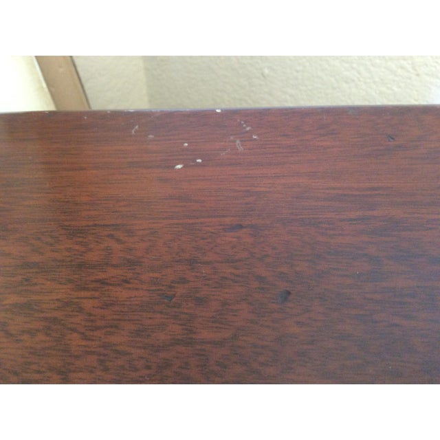Classic Mahogany Two Door Cabinet With Handles For Sale - Image 5 of 10