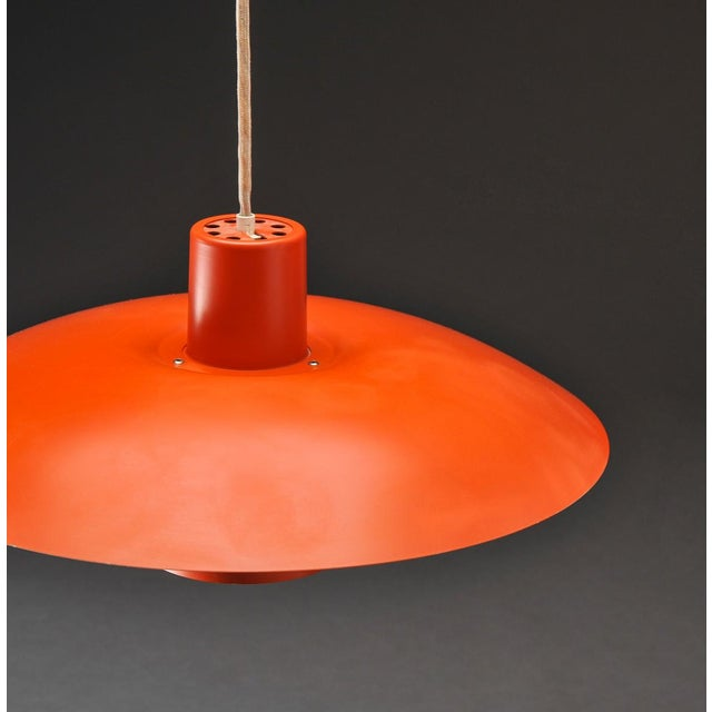 Danish Modern Orange PH 4/3 hanging lamp by Poul Henningsen for Louis Poulsen For Sale - Image 3 of 7