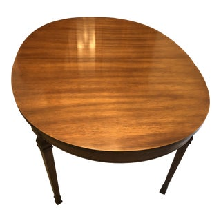 19th Century French Style Mahogany Extending Oval Dining Table For Sale