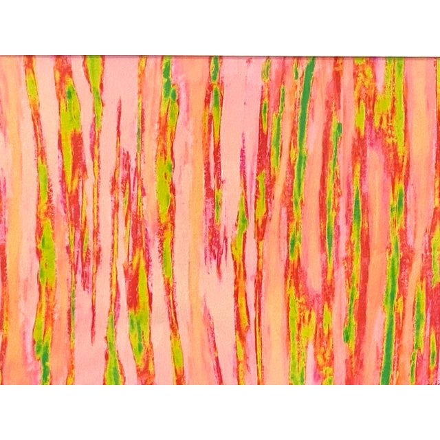 """Contemporary Abstract Pink Green """"Enlightened Terrain"""" Artist's Print by Suga Lane For Sale - Image 3 of 13"""