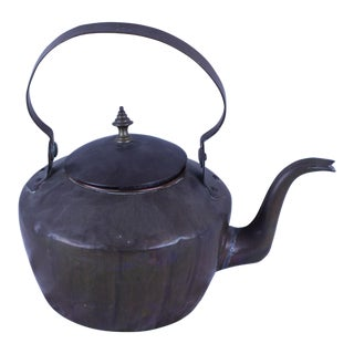 20th Century Rustic Copper Tea Kettle For Sale