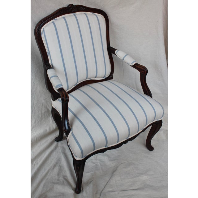 Antique Louis XV Style Fauteuil Chair - Image 3 of 9