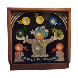 """1940's Painted """"Skill Ball Game"""" For Sale"""