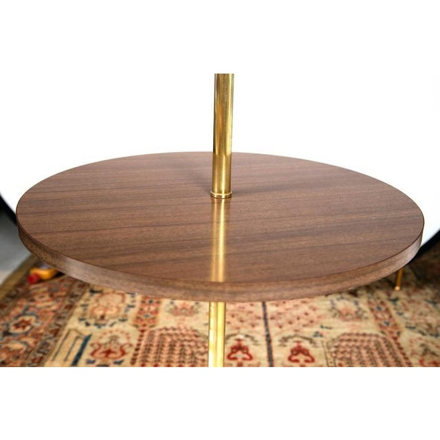 Midcentury Brass and Formica Table Floor Lamp - Image 3 of 6