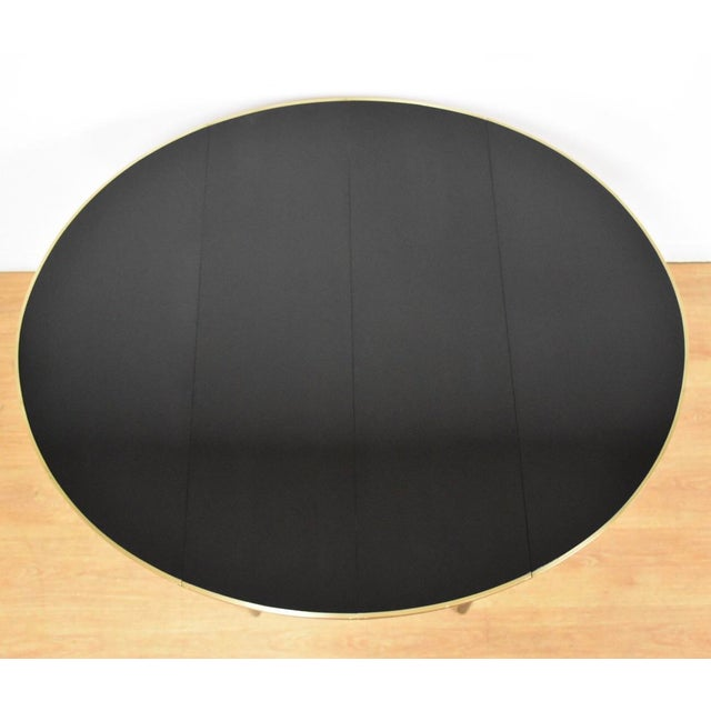Calvin Furniture Paul McCobb Black Lacquer and Brass Dining Table For Sale - Image 4 of 11