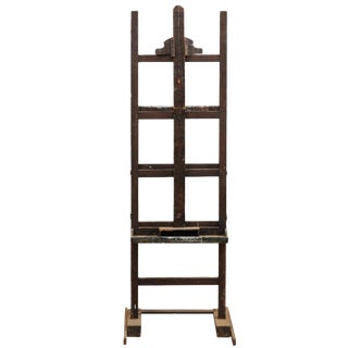 French Early 20th Century Wood Adjustable Artist Easel For Sale