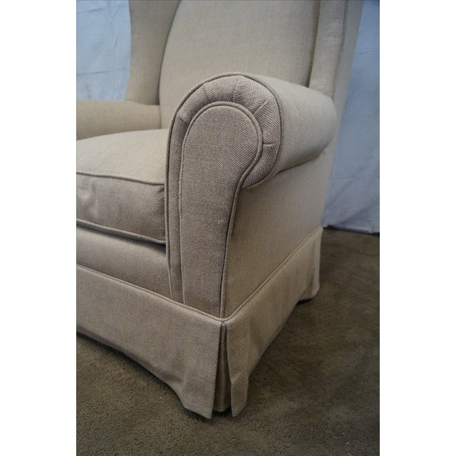 Lexington Tan Upholstered Lounge Chair For Sale - Image 7 of 10