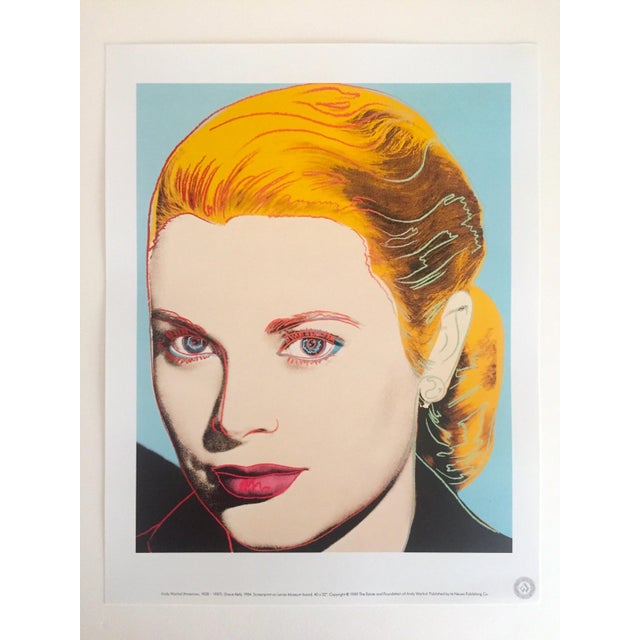 "Andy Warhol Andy Warhol Estate Vintage 1989 Pop Art Lithograph Print "" Grace Kelly "" 1984 For Sale - Image 4 of 10"