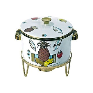 Enamel Mid-Century Modern Dish Warmer For Sale